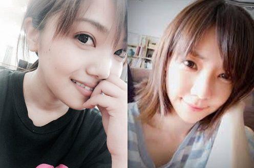 姉妹写真画像(妹の橘のぞみと倉科カナ)