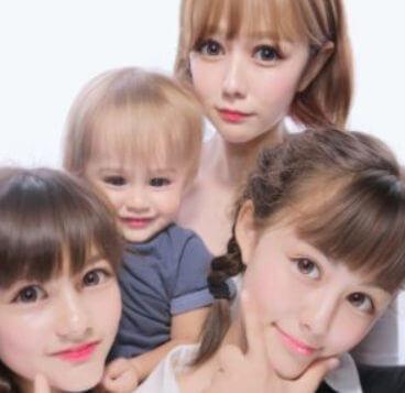 村重杏奈と2人の妹と弟の画像