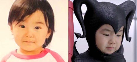 寺田心の顔立ちが、3歳と7歳で変化している